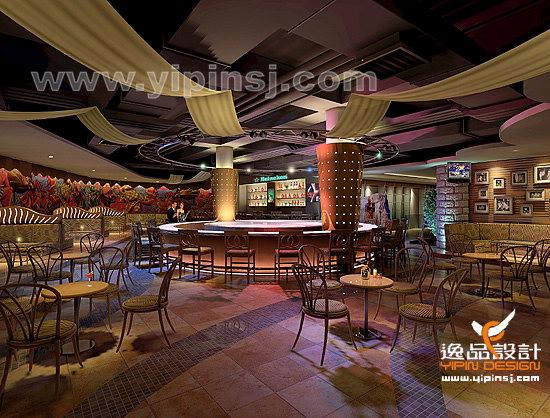 某会所的酒吧室内装修设计效果图