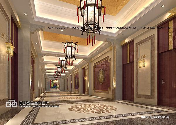 酒店客房区走廊