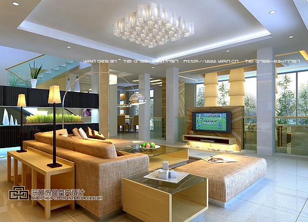 别墅客厅;; 海景别墅室内设计;; 海景山庄别墅室内设计-家具设计-顺德