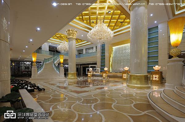 东妮娅国际商务会馆大堂完工