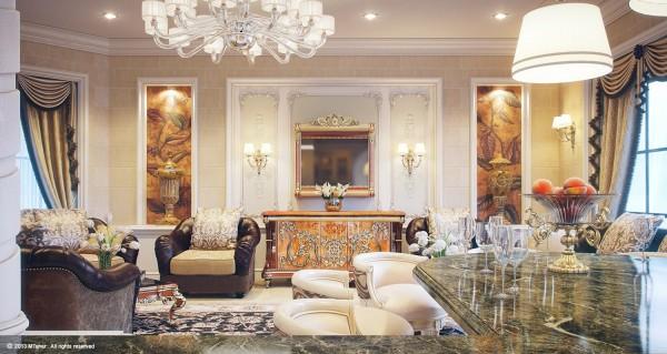 卡塔尔宫殿式豪华别墅设计 别墅设计在线 Yipin Cn