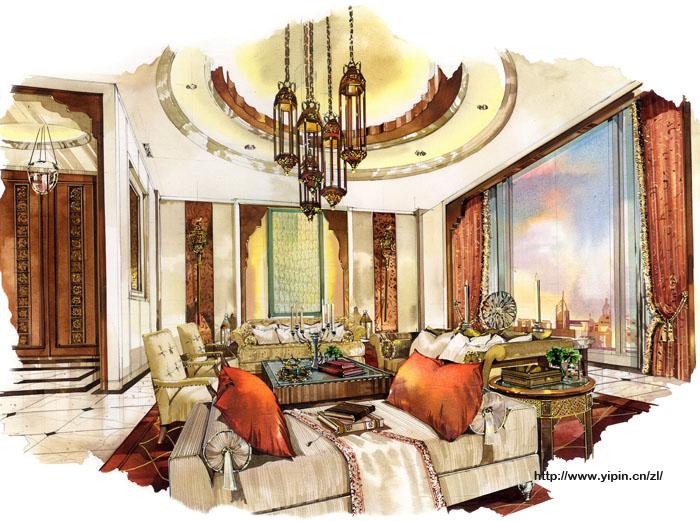 國外酒店設計手繪效果圖