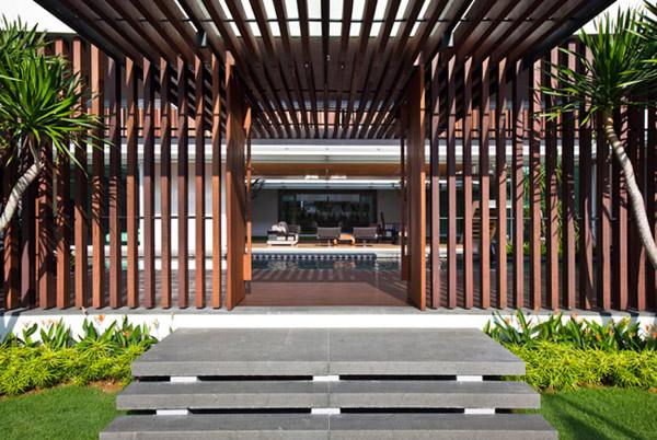 新加坡现代简约的四合院式别墅设计图片