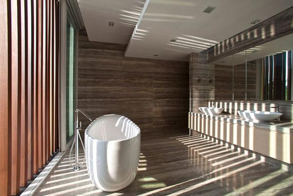 新加坡现代简约的四合院式别墅设计