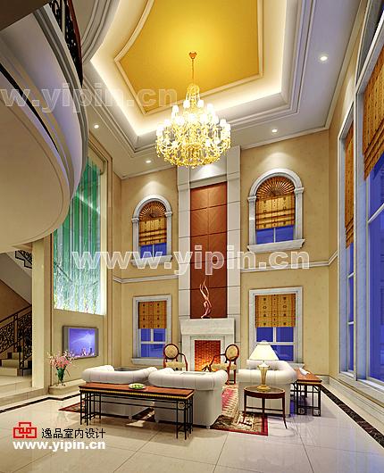 别墅室内设计-简欧式风格的别墅客厅